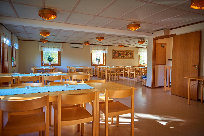 Visar matsalen på Sunnerbogården